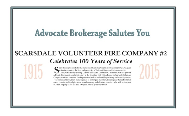 Scarsdale Volunteer Fire Company #2 – Advocate Brokerage Salutes You