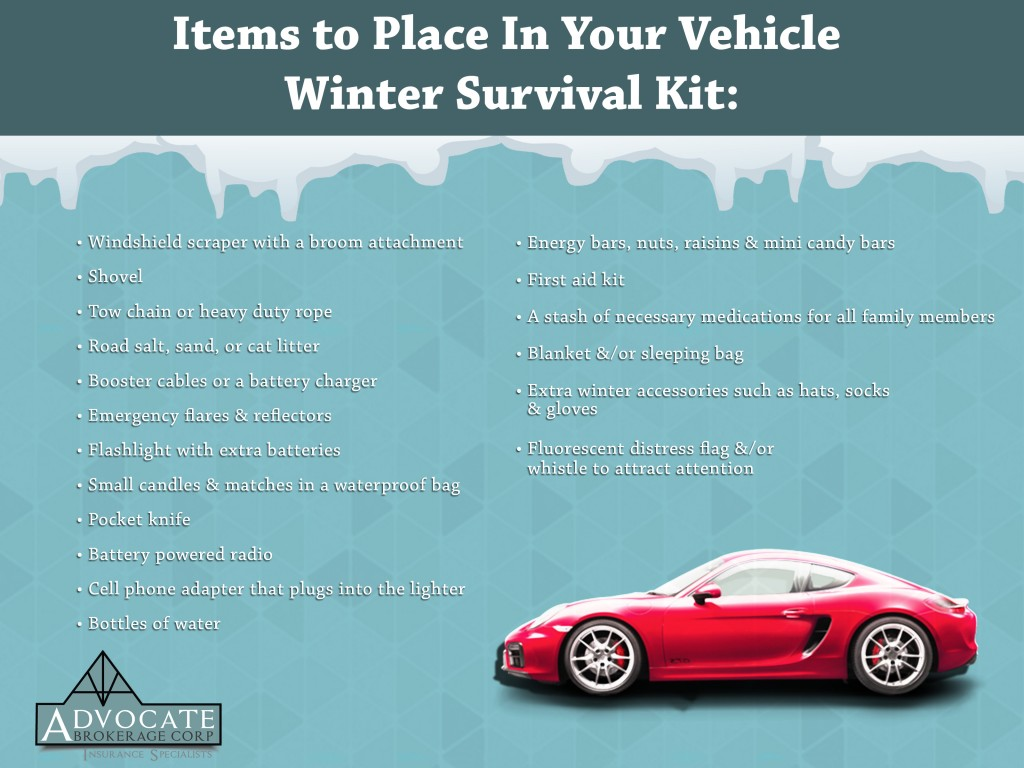 Winter Vehicle Survival kit